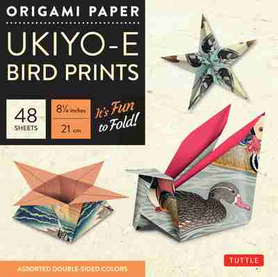 Origami Paper Ukiyo E Bird Prints 8 14 Size 48 Sheets