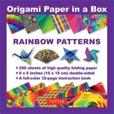 Origami Paper In A Box Rainbow Patterns Newsouth Books