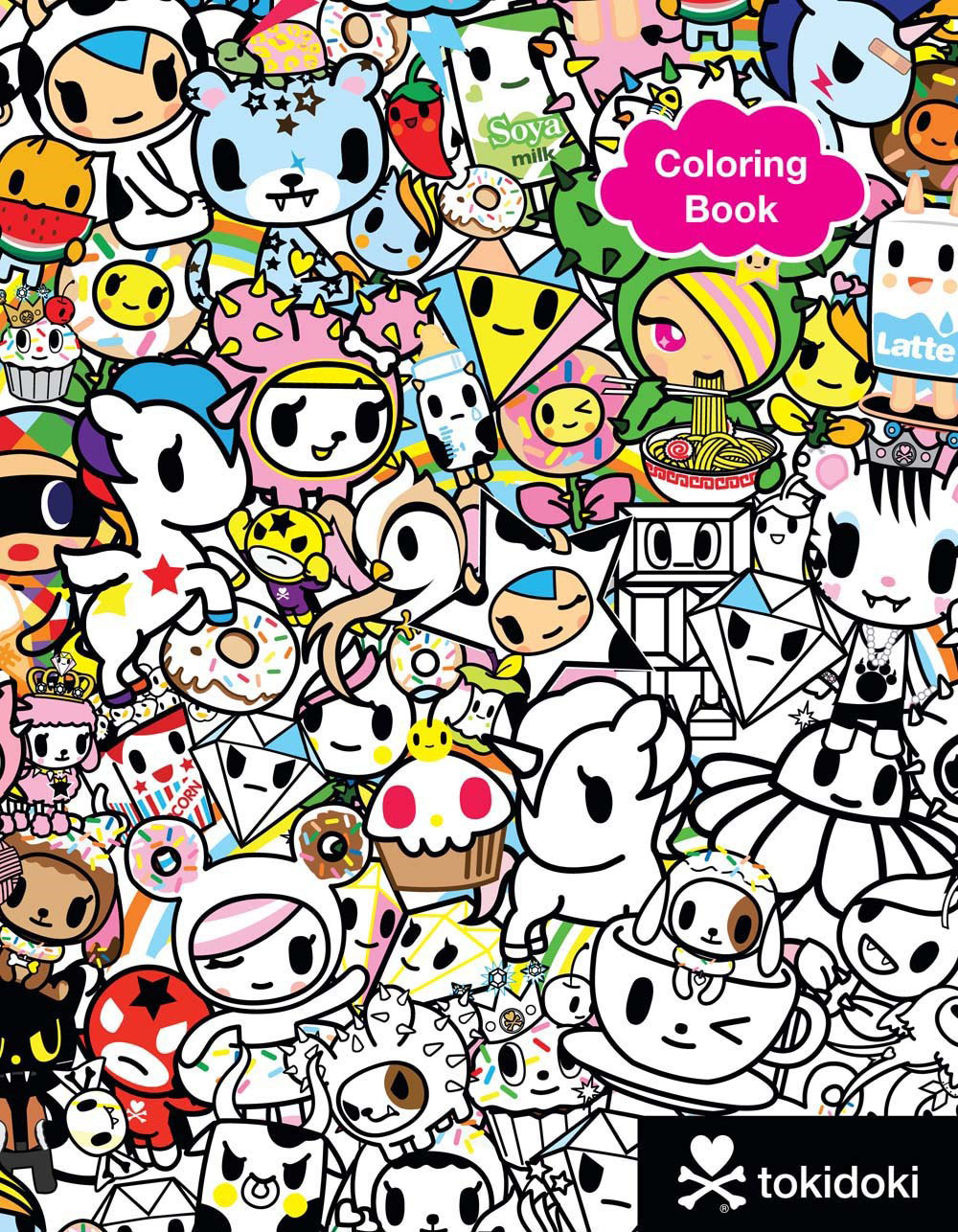 this is the cutest most irresistible coloring book ever featuring the popular tokidoki characterslike unicorno and donutellathese picture packed pages